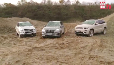 Prueba del BMW X5, Jeep Grand Cherokee y Mercedes ML