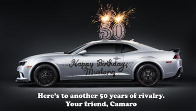 Camaro vs. Mustang, 50 años de rivalidad