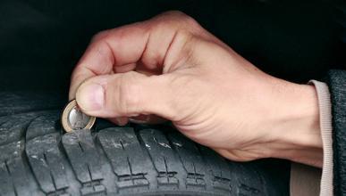 Sensores que leen la profundidad del dibujo del neumático
