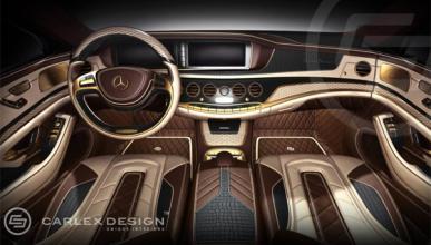 Un Mercedes Clase S con oro de 24K