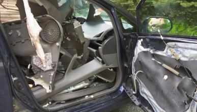Un oso destroza Honda Civic