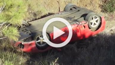 Graba el vuelco de un Ferrari 360 Modena