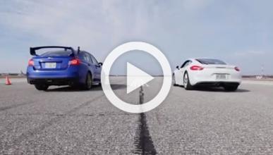 Drag Race: Porsche Cayman vs Subaru Impreza WRX STI