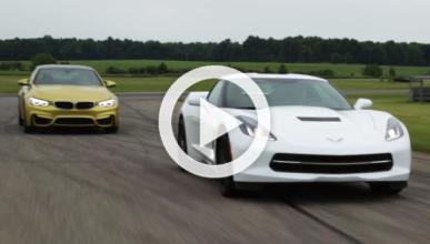 El gran duelo: BMW M4 contra Chevrolet Corvette C7