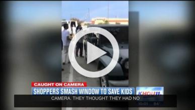Dramático rescate de niños encerrados en un coche al sol