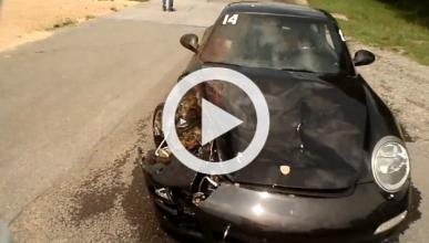 Un Porsche 911 atropella a un ciervo en un 'track day'