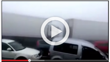 Trágico accidente de Lugo: vídeo del choque de 50 coches