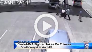 Un exluchador de MMA mete una paliza a un ladrón de coches