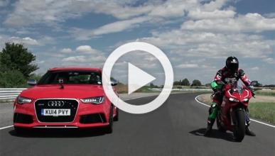 Audi RS6 contra Ducati 1199 Panigale R: ¿quién ganará?