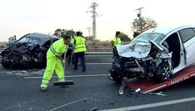 Un kamikaze provoca un accidente y dos muertos en Palencia