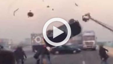 Espectacular accidente durante el rodaje de una película