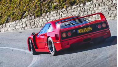 Un Ferrari F40 por los Alpes suizos