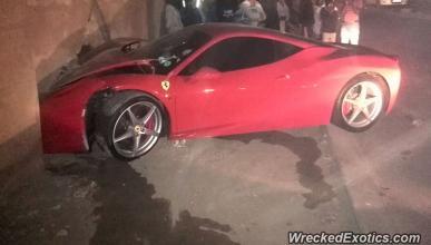 accidente Ferrari 458 Italia novia