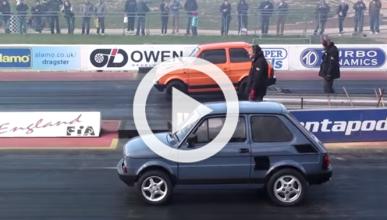 Dos Fiat 126 de 650 CV, cara a cara en una 'drag racing'