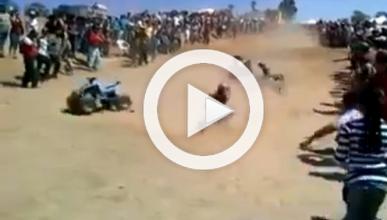 Vídeo: espectacular caída durante una carrera de quads