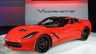 Exhiben un Corvette Stingray totalmente calcinado