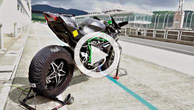 Vídeo: así suenan los 300 CV de la Kawasaki H2R en circuito