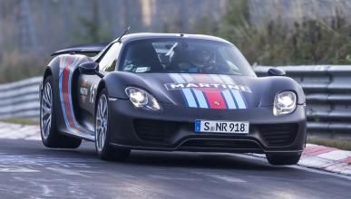 cinco hibridos mas rapidos Porsche 918 Spyder