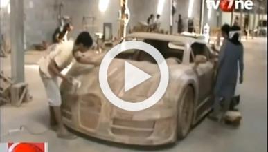 Una réplica del Bugatti Veyron de madera, por 2.600 euros