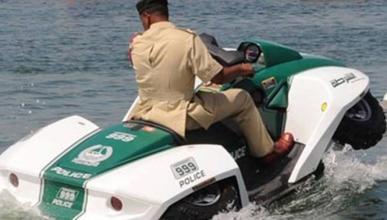 Quadski, el último 'juguete' de la Policía de Dubái