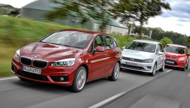Comparativa: BMW 2 Active Tourer, Golf Sportsvan y C-Max