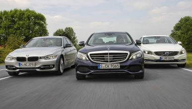 Comparativa BMW 325d/Mercedes C250/Volvo S60 D5