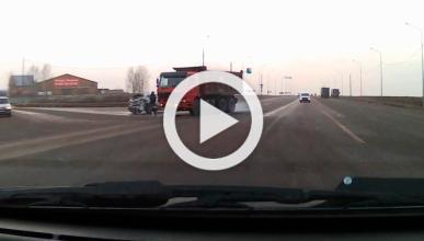 Un peatón se libra de morir atropellado en una autovía