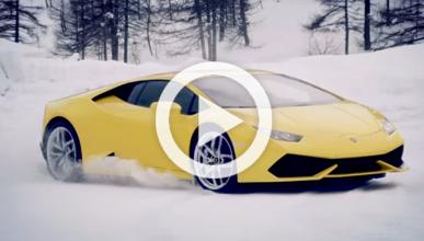 Cómo hacer un drift sobre hielo con un Lamborghini Huracan