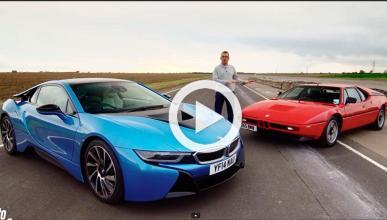 Encuentro familiar: BMW i8 y BMW M1 juntos en un circuito
