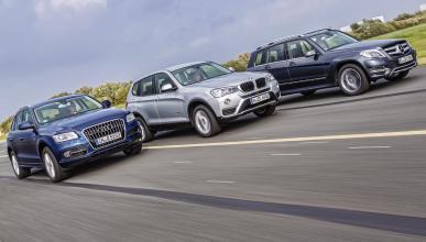 Comparativa: Audi Q5 'vs' Mercedes GLK y BMW X3