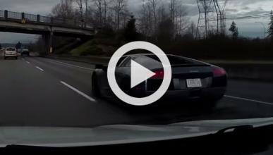 Vídeo: graba el accidente de un Lamborghini Murciélago
