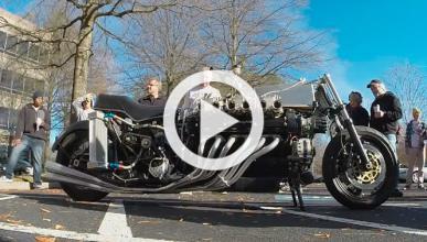 De locos: una moto con motor Lamborghini V12