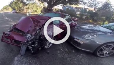 Vídeo: un pick-up destroza un espectacular RUF Turbo R