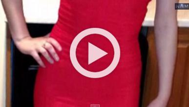 Salva la vida por llevar un vestido muy ajustado