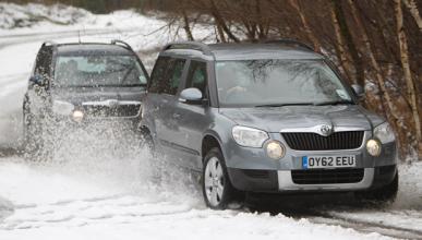 Atrapados 200 coches por la nieve en O Cebreiro