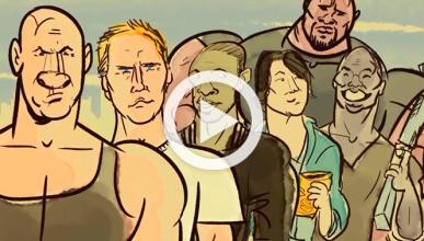 La saga de 'A todo gas' contada, en dibujos, en tres minuto