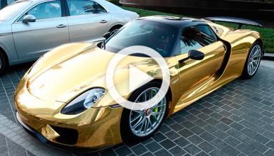 Vídeo: Un Porsche 918 Spyder con pintura efecto oro