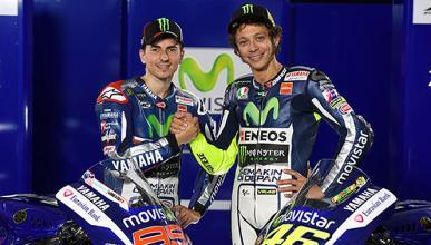 Rossi y Lorenzo, satisfechos con su primer día de trabajo