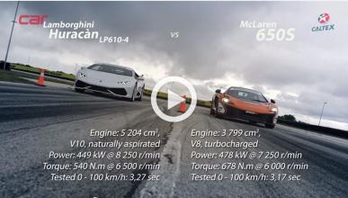 'Drag race': McLaren 650S vs. Lamborghini Huracan LP610-4