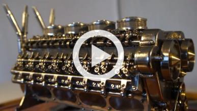 Vídeo: ¡fabrica el motor W32 más pequeño del mundo en casa!