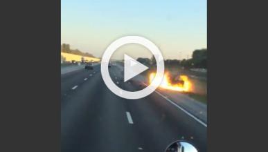 Vídeo: una conductora borracha hace explotar una 'furgo'