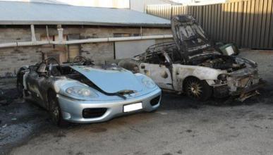 Un pirómano quema un Ferrari y un Maserati en Australia