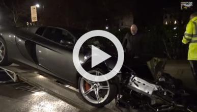 Vídeo: espectacular accidente de un McLaren 650S en Londres