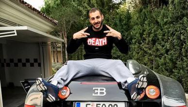 Benzema presume de su Bugatti Veyron en Instagram