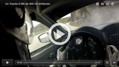 Drift con un Toyota GT86 de ¡800 CV!