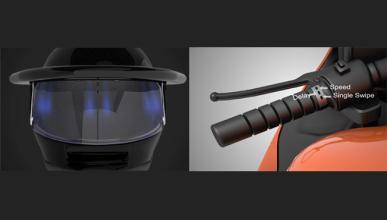 'Limpiaparabrisas' para casco de moto