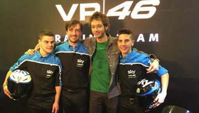 Valentino Rossi presenta su equipo de Moto3