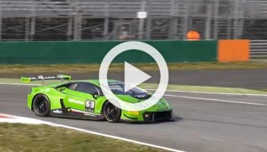 Un Lamborghini Huracan GT3 se desgañita en Monza