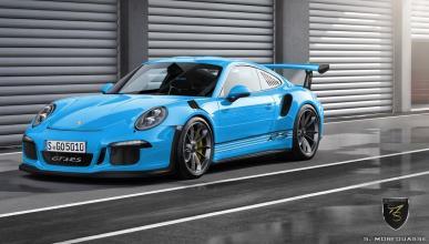 Colores del nuevo Porsche 911 GT3 RS 2015 Riviera Blue delantera