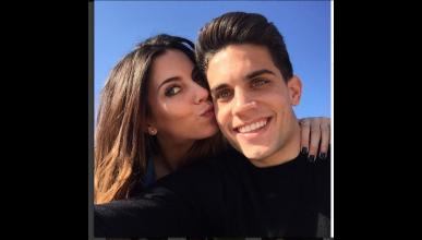Melissa Jiménez, embarazada de Bartra y cubriendo MotoGP